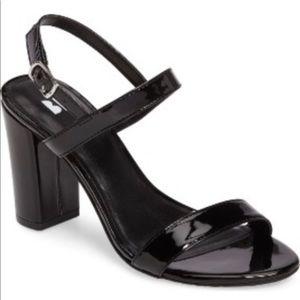 Black Patent Strappy Block Heels BP Lula